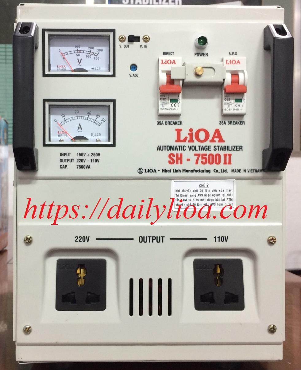 Ổn Áp LiOA 1 Pha SH-7500 (7.5KVA)