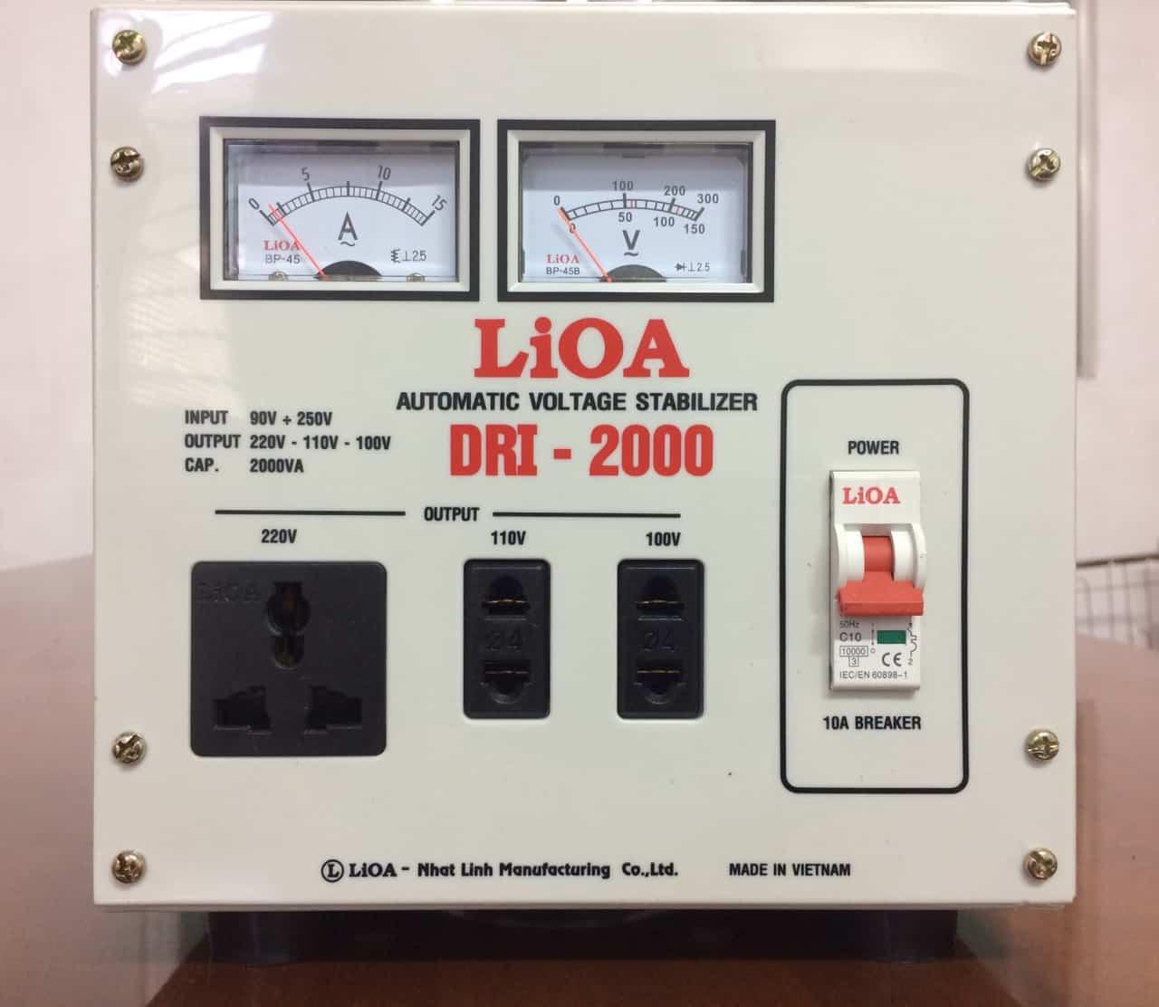 Ổn Áp LiOA 1 Pha DRI-2000 (2KVA)