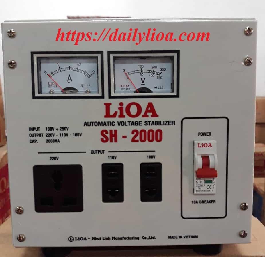 Ổn Áp LiOA 1 Pha SH-2000 (2KVA)